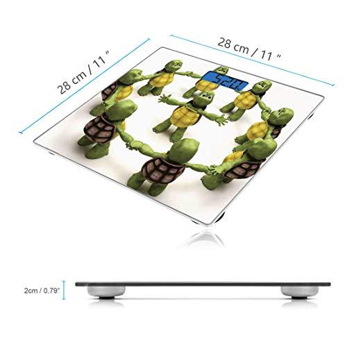 Escala digital de peso corporal de precisión Square Reptil ...