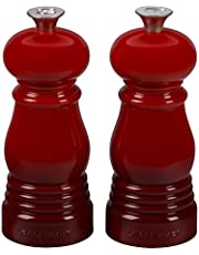 """Le Creuset of America Petite Salt and Pepper Mill Set, 5"""" x 2"""", White"""