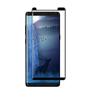 Galaxy Note 8 Screen Protector [Case Friendly]3D Curved Edge 9H Hardness Tempered Glass Screen Protector Bubble-Free Anti-Scratch Film for Samsung Galaxy Note 8(Black)