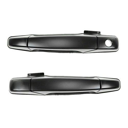 Front Black Door Handle LH & RH Pair Set of 2 for Chevy GMC Pickup Truck SUV