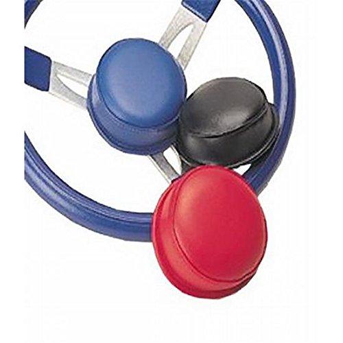 Vinyl 3-Spoke Steering Wheel Nose Pad Center Blue