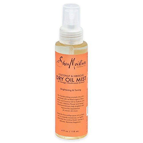 (Shea Moisture 4 oz. Coconut and Hibiscus Brightening and Toning Dry Oil Mist)