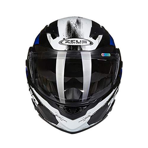 Amazon.es: DGEG Casco de la motocicleta, Casco abatible de cara completa para adultos Gafas dobles de fibra de carbono Casco de seguridad ultraligero para ...
