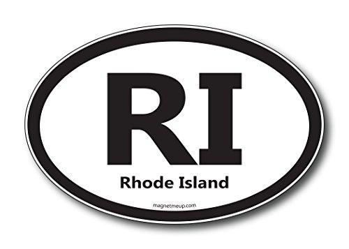 RI Rhode Island Car Magnet US State Oval Refrigerator Locker SUV Heavy Duty Waterproof…