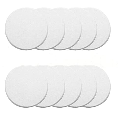 New Ivory, Pack of 10 Door Knob Self Adhesive Protector 3