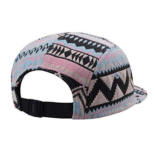 88d129a814cd5 GP Accessories Pattern Multi Color Stripe 5 Panel Hat - Buy Online ...