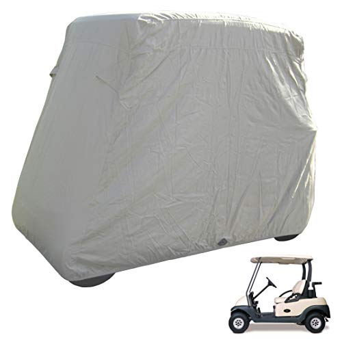 Deluxe 2 Passenger Golf Cart Cover in Taupe, roof up to 58