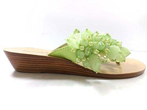 Zapatos Mujer EDDY DANIELE 37 Sandalias Textil Perlas Verde AX941