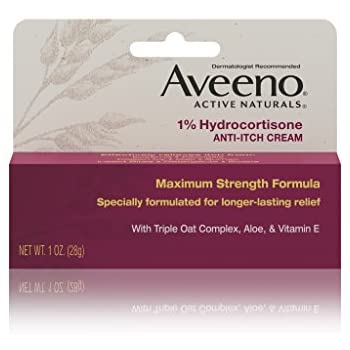 Aveeno 1% Hydrocortisone Anti-Itch Relief Cream, 1 Oz (Pack of 2)