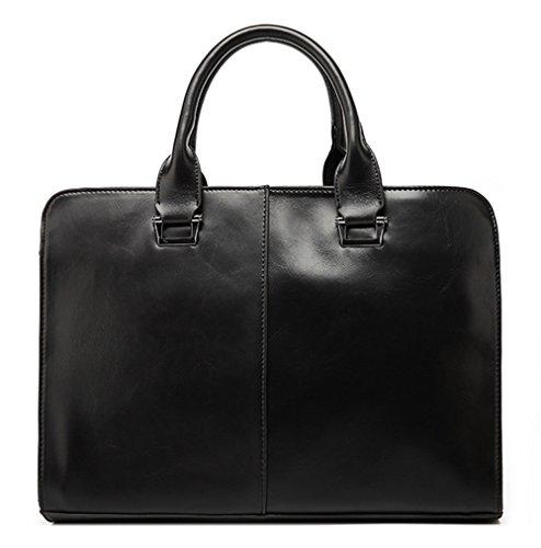 Xinmaoyuan bolsos de Hombres de Negocios multifuncionales Pu Bolso Maletín Men's Handbag,negro Negro