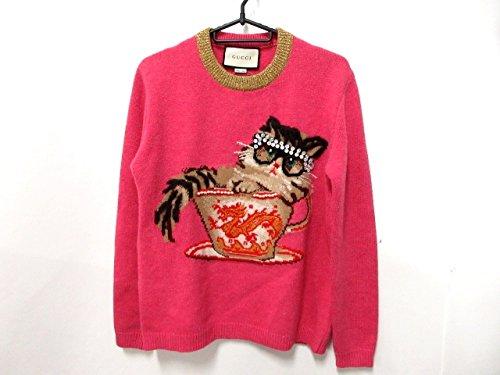 (グッチ) GUCCI セーター 長袖セーター レディース ピンク×ベージュ×レッド×黒 【中古】 B07F37MY4G  -
