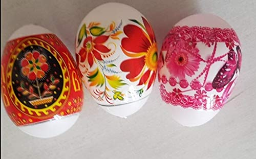 khevga Easter decorating fun set of 80 white easter eggs to be coloured and decorated