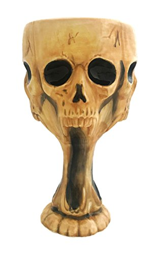 Halloween Screaming Skull Goblet Chalice