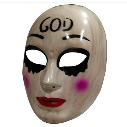 Gmasking 2018 The Horror Killer Women God Mask Halloween Party Costume Props ()