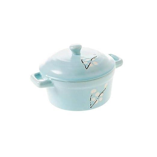 Vajilla de cerámica elegante para microondas con tapa, olla de ...