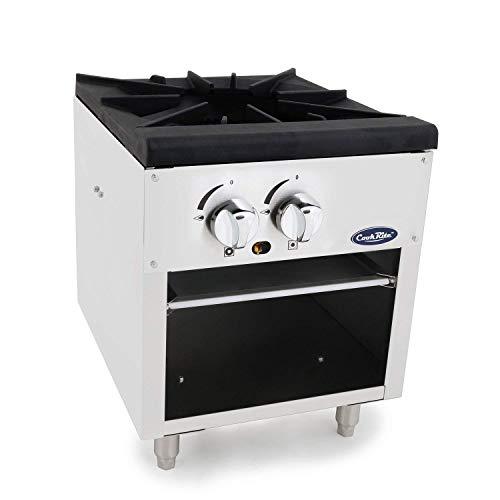CookRite ATSP-18-1 Single Stock Pot Stove Propane Stainless Steel Countertop Portable Commercial Burner Range - 80,000 BTU