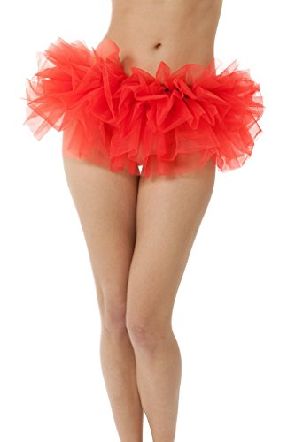 Adult Tutu Skirt, by BellaSous. Perfect as a Halloween Costume, Princess tutu, Ballet tutu, Adult Dance Skirt, or as a Petticoat Skirt. Plus size tutu available. Standard - Red (Red Halloween Skirt)