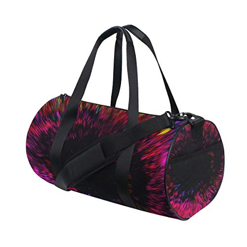 OuLian Women Gym Bag Trippy Colorful Mens Camp Duffel Bags Duffle Luggage Travel Bag by OuLian