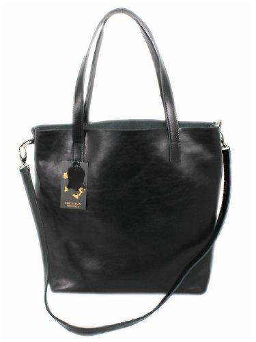 Borsa Tote Leatherworld Italy Donna Groß Nero E5qBqZT
