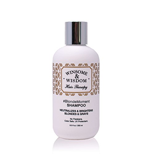 Violet Blue Natural - BlondeMoment Purple Shampoo for Blonde Hair High Lights Toning Toner Violet Blue Grey 8.5 Oz Alcohol Paraben Free Color Safe UV Protectant Winsome & Wisdom Cruelty Free Professional Hair Products
