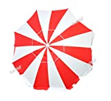 6.5 ft Beach Umbrella UPF100+ Fiberglass Ribs w/ Air Vent and Aluminum Pole, Outdoor Stuffs