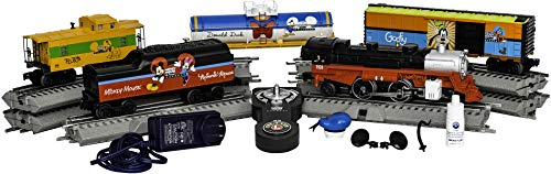 Lionel Disney Mickey & Friends Express Electric O Gauge Model Train Set w/ Remote and Bluetooth Capability (Lionel Polar Express Remote Train Set O Gauge)