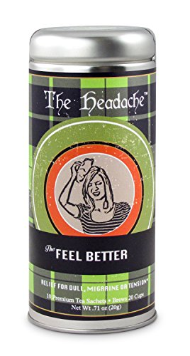 (The Headache Relief Tea: Caffeine Free Herbal Blend, Relaxing and Soothing, 24 Servings)
