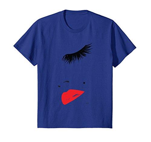 Eye-Lashes-In-Vogue-t-shirt-Lips-Print-Shirt-Tops-Tees