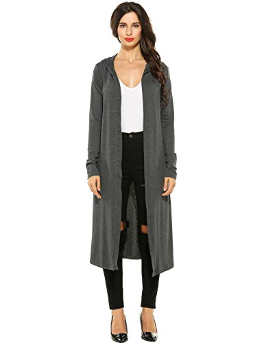 Cashmere Extra Long Cardigan - loukou Lightweight Waterfall Extra Soft Natural Bamboo Brown Cream ch Cardigans