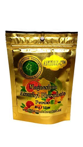 100% PURE Magnesium Ascorbyl Phosphate MAP Powder Stable Vitamin C - 30g/1.1oz - Make your own Vitamin C Serum by HIGH ALTITUDE ESSENTIALS