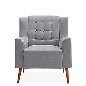 Hodiso - Sillón Moderno de Tela de Lino para Tina, sofá ...