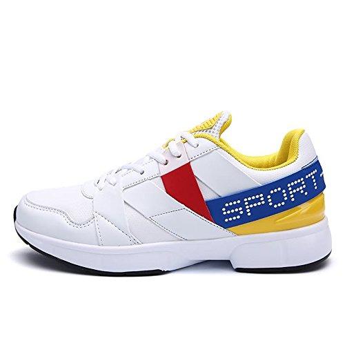 Ginnastica Yellow da White Uomo da da atletiche da Sneaker Scarpe Cricket Corsa Scarpe da Uomo af5x6qwqF