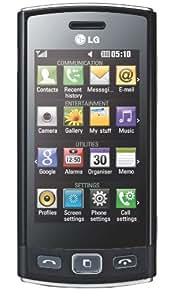 """LG GM360 - Móvil libre (pantalla táctil de 3"""" 240 x 400, cámara 5 MP, teclado alemán QWERTZ, S.O. LGOS) color negro [importado de Alemania]"""