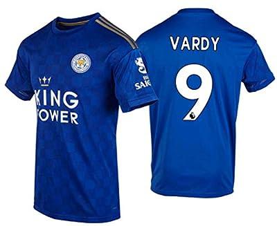 Sybabyt 2019-2020 Leicester City #9 Jamie Vardy Home Men's Soccer Jersey/Short Blue