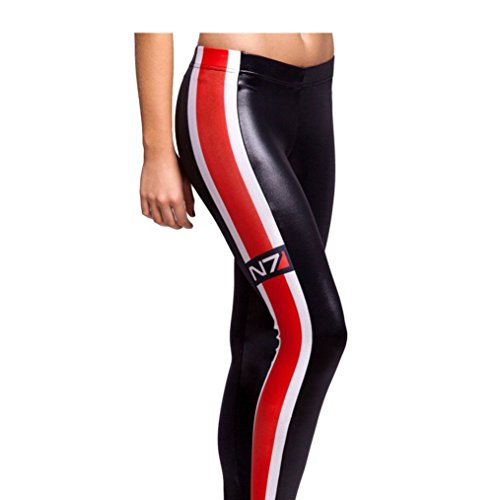 Price comparison product image Takra Gold Women Mass Effect N7 Elastic Digital Print Jeggings Fitness (M)