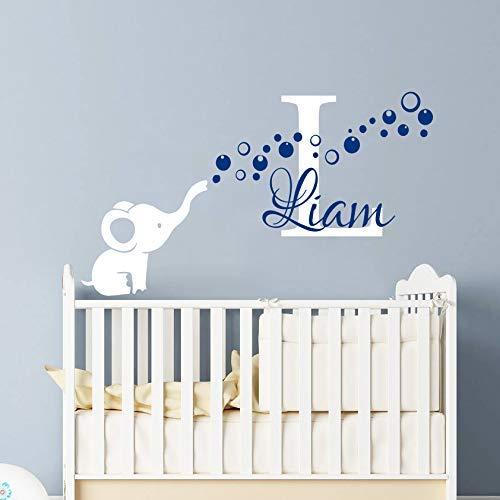 amazon com elephant wall decal for nursery boy baby boy monogram rh amazon com boy nursery wall paper boy nursery designs