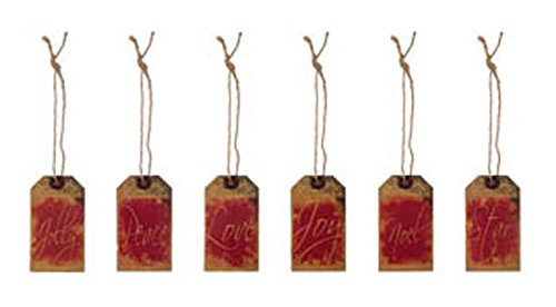 Amazon.com: Ohio Wholesale Christmas Wood & String Primitive Tag Ornaments  6pc.: Home & Kitchen - Amazon.com: Ohio Wholesale Christmas Wood & String Primitive Tag