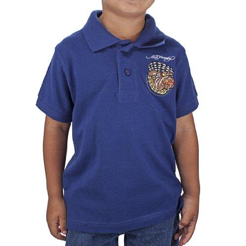Ed Hardy Little Boys' Kids Bulldog Polo - Navy - 2/3