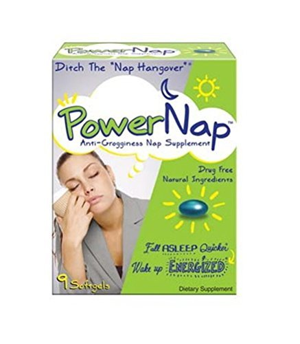PowerNap Anti-Grogginess Nap Supplement, 9 Count by PowerNap