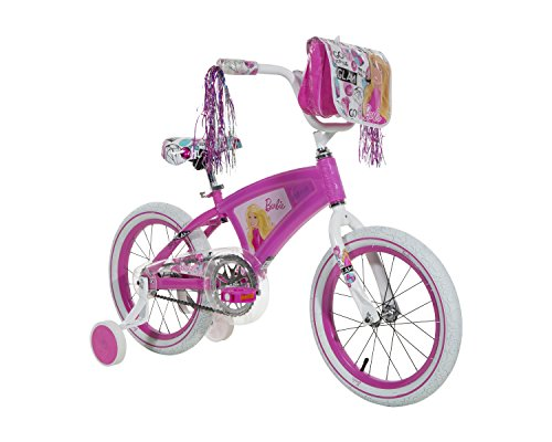 """Barbie Girls Bike with Light Up Frame, Pink/White, 16""""/One"""