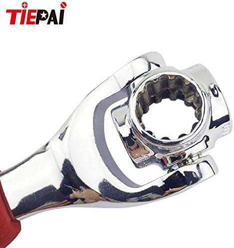 Torx Bestcool Tiger Wrench Spanner pernos cuadrados da/ñados y cualquier tama/ño est/ándar o m/étrico 12 puntos 48 en 1 Llave de tubo Herramientas de bricolaje Funciona con pernos estriados 6 puntos