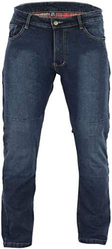 Black Tab 96s Motorrad-Jeans Kevlar Stretch Denim für Herren,Motorradrüstung im modernen Regular Komfort Fit Blau (40W 32L)