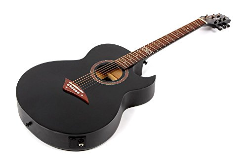 Lindo ORG-SL - Guitarra electroacústica (con preamplificador y afinador integrados, con accesorios), color negro: Amazon.es: Instrumentos musicales