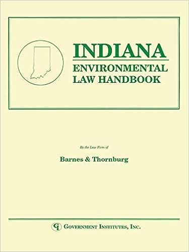 Indiana Environmental Law Handbook (State Environmental Law