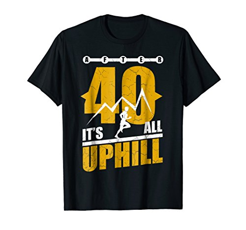 Funny Running T shirt 40 years old 40th Birthday Gift Tee