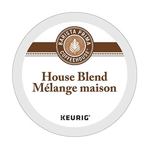 Barista Prima Coffeehouse HOUSE BLEND 4 Pack of 24 K-Cups for Keurig Brewers (Packaging May Vary) (Barista Prima Coffee K Cups)