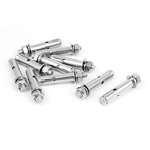 (uxcell M8x60mm Stainless Steel Sleeve Expansion Anchor Bolts Screws 10 Pcs)