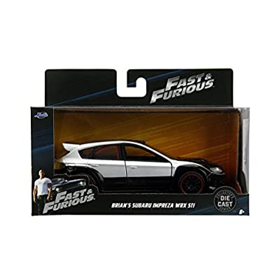 Jada 98507 Toys Ff Subaru WRX STI Diecast Vehicle, Silver, 1: 32 Scale, Silver/Black: Toys & Games