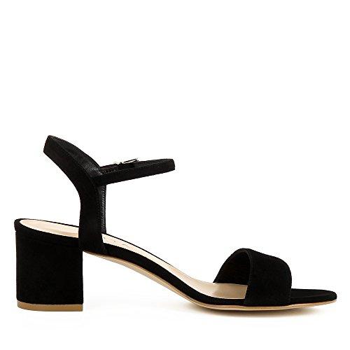 Evita Shoes Mariella Damen Sandalette Rauleder Schwarz