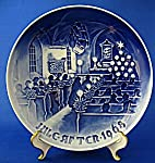 "Bing & Grondahl 1968 Christmas Plate ""Christmas In Church"""